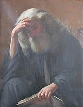 EUROPEAN SCHOOL (18TH/19TH CENTURY) APOSTLE PAUL HOLDING AN OPEN BOOK Oil on canvas: 36 x 24 in.