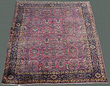 LARGE PERSIAN SAROUK WOOL RUG