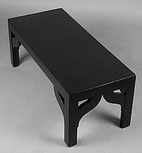 DOROTHY DRAPER STYLE BLACK COFFEE TABLE FROM THE GREENBRIER HOTEL