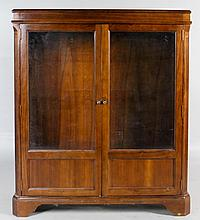 DREXEL FURNITURE MAHOGANY AND GLASS CABINET
