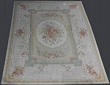 LARGE CHINESE WOOL AUBUSSON RUG