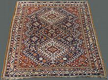 CAUCASIAN THREE MEDALLION WOOL TRIBAL RUG
