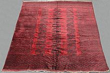 LARGE ANTIQUE ERSARI TURKMAN WOOL RUG