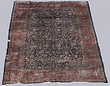 LARGE ANTIQUE SAROUK WOOL RUG