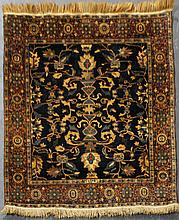 SEMI ANTIQUE SAROUK WOOL RUG, SIGNED