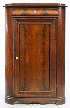 AMERICAN EMPIRE MAHOGANY LOW CORNER CUPBOARD