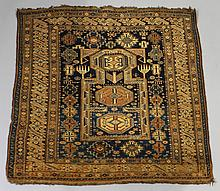 CAUCASIAN CHI CHI DESIGN WOOL PRAYER RUG, SIGNED