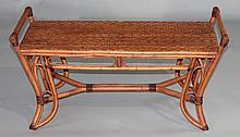 PALACEK FURNITURE BAMBOO AND RATTAN HALL BENCH