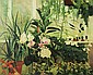 SYDNEY HERSCHLEB BEGONIA GARDENS Oil on canvas: