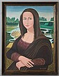 JAMES GALLO MONA LISA Oil on canvasboard: 18 x 24 in. (board) 26 x 21 in. (framed)