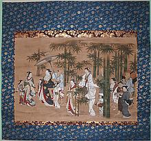 MIYAGAWA SCHOOL (JAPANESE, 18TH CENTURY) PROCESSION Ink and color on paper mounted on silk hanging scroll: 16 1/4 x 24 in.