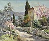 LUCIEN POTRONAT (FRENCH, 1889-?) TUSCAN SCENE Oil on canvas: 17 1/2 X 21 in. (sight)