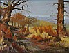 K. DAUG? (20TH CENTURY) AUTUMN LANDSCAPE Oil on canvas: 11 3/4 x 15 3/4 in. (sight)