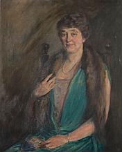 MARY BREWSTER HAZELTON (AMERICAN, 1868-1953) PORTRAIT OF A LADY, 1926 Oil on canvas: 34 x 27 in. (sight)