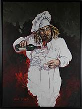 JACK DOWD (AMERICAN, 1938-) CHEF Oil on canvas: