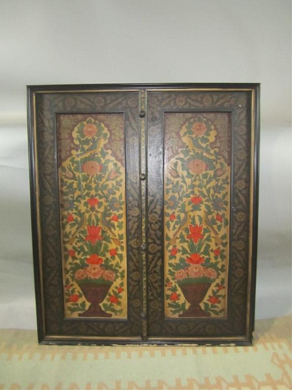 H18-49  PAINTED DOUBLE WOOD PANEL