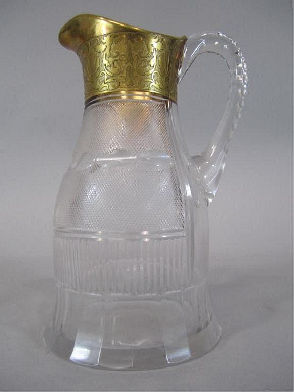 H80-201  MOSER SPLENDID GOLD PITCHER