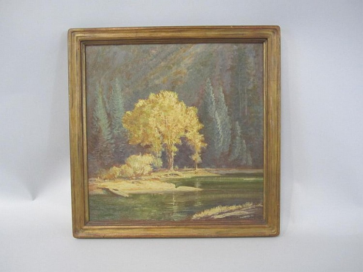A45-10  FERDINAND BURGDORFF ARTS & CRAFTS PAINTING