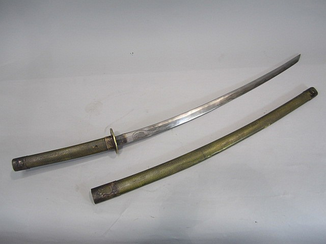 A66-14  SIGNED JAPANESE SWORD