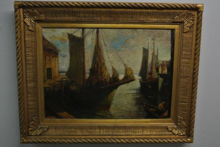 EMILE GRUPPE OIL ON CANVAS