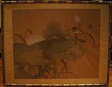 Chinese antique water color on silk