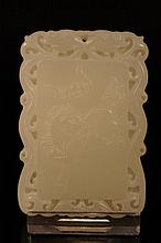 Chinese antique white jade pendant