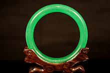 Chinese antique Emerald green jade bangle