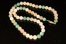 Chinese antique Agate and jade necklace