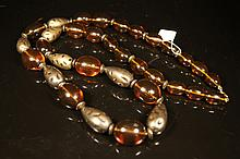 Chinese antique Amber beads necklace