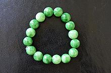 Chinese antique green jade bracelet
