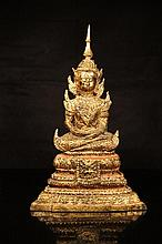 Tibetan antique Gilt Bronze Buddha statue