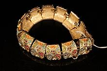 Chinese decorative metal bracelet