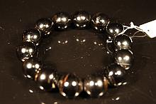 Chinese antique Black coral beads bracelet