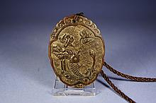 Chinese antique Horn carved pendant