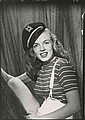 Collection of (11) vintage contact prints of Marilyn Monroe by Bruno Bernard.