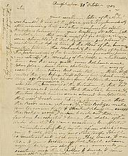 Washington, George. Letter signed (