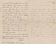 Einstein, Albert. Autograph letter signed, in German, 4 pages. Zurich, Thursday [11 October 1900]