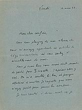 Valéry, Paul. Fine series of four autograph letters signed by the French poet.