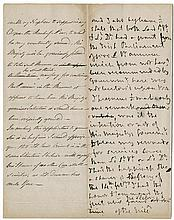 Nelson, Horatio. Autograph manuscript draft, 4 pages. [April or May 1803] to the Prime Minister.