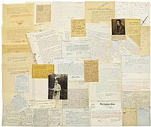 Shaw, George Bernard. An extensive archive of 30 autograph letters signed.