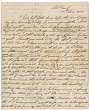 Lee, Robert E. Autograph letter signed, 3 pages, Old Point [Virginia], 15 June 1831.