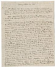 Adams, John. Autograph letter signed, 3 pages, Quincy, 13 and 15 October 1810, to Dr. Benjamin Rush.