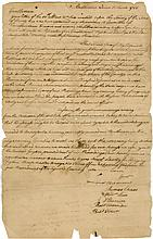 [Sons of Liberty]. Letter signed with secretarial signatures of Thomas Chase, William Lux, and more.