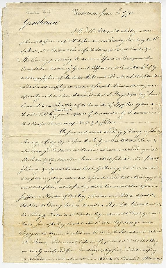 Gerry, Elbridge. Autograph letter, 4 pages (12 ½ x 7 ¾ in.; 318 x 197 mm.)