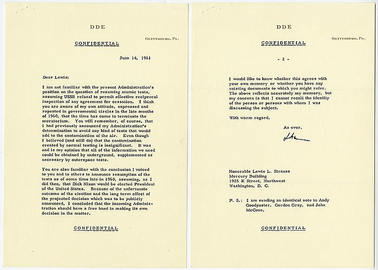 Eisenhower, Dwight D. Typed letter signed (