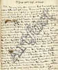 Nelson, Horatio. Autograph letter signed, (