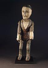 19thC  Polychrome Painted Folk  Art Figure Of Man