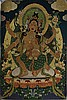 OLD GOLDEN THREAD TIBETAN THANGKA