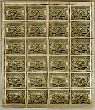 FULL PAGE OF OLD STAMP