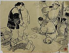 MOUNTED PAINTING ON PAPER, ATTRIBUTED TO HUA SAN CHUAN